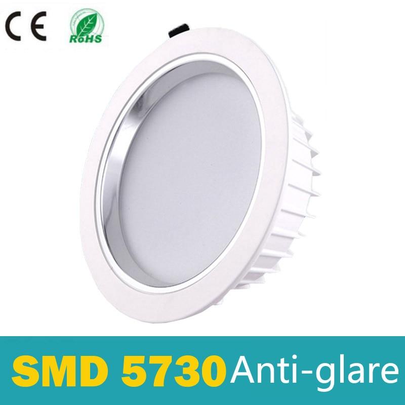 2018 new lampada High quality ultra brightness led downlight round chandelier dimmable 110v-240v 5W 7W 10W 15W 30w 50w 60w