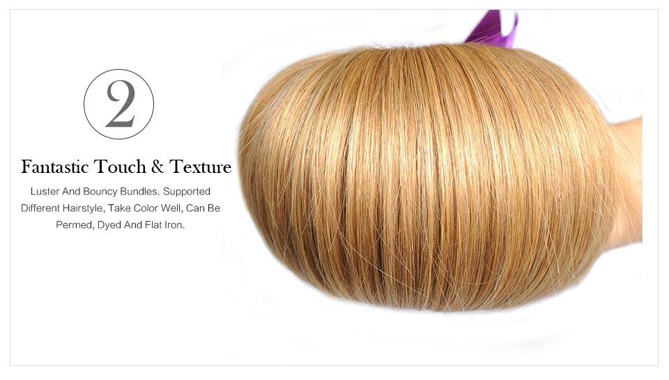 Echthaarverlängerungen Haarverlängerung Und Perücken Honig Blonde Bundles Farbige 27 Gerade Menschliche Haarwebart Bundles Blonde Peruanische Haar Verlängerung Glänzende Stern Dicke Schuss Nonremy