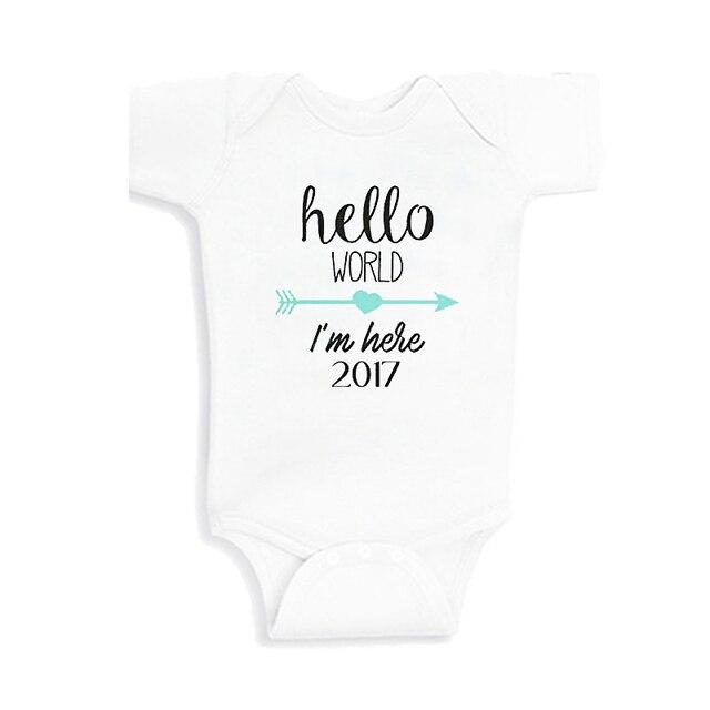 1637310c5 Culbutomind 0 12M Newborn Infant Baby Boys Girls Clothes Hello World ...