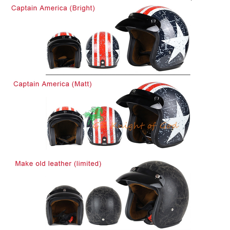 Universal Motorcycle Open Face Helmet for Harley Retro Cold Protection Safe Riding Scooter Headpiece with Visor S M L XL XXL