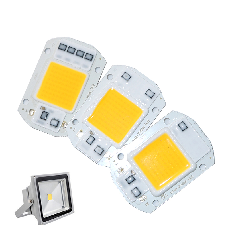 Power CoB Led Lamp Chip 20W 30W 50W Light Bulb AC220V IP65 Smart IC White Warm White For LED Spotlight Floodlight