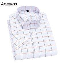 2019 Plaid Summer Men Shirts Homme Short Sleeve Shorts Casual Soft New Fashion Man Striped/Plaid Brand Streetwears XT823