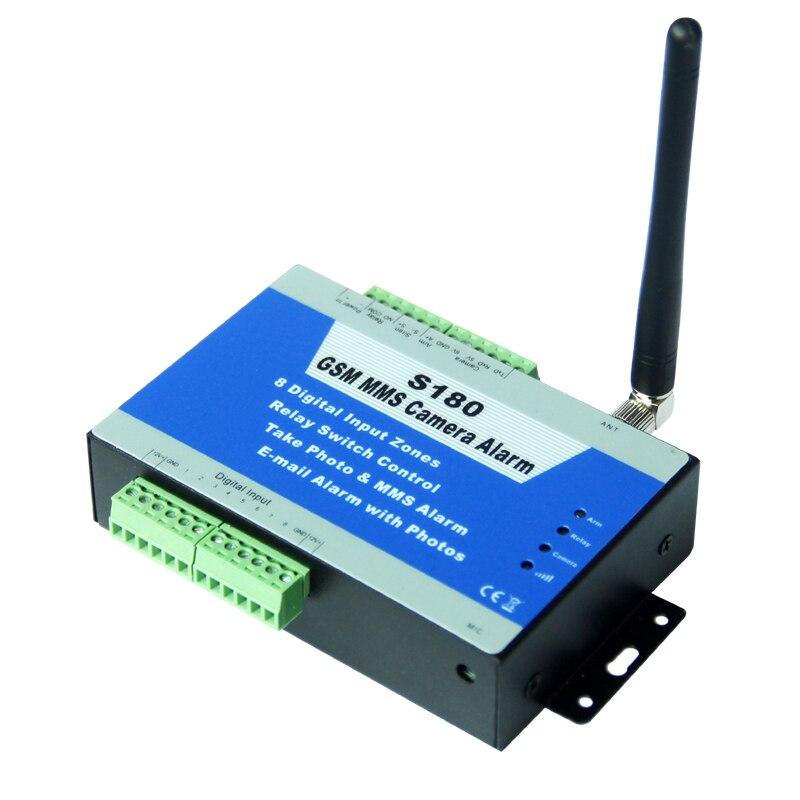 Contrôleur d'alarme MMS Quad-Band GSM | Caméra résistante aux intempéries à l'extérieur, alarme de sécurité et de Surveillance à domicile King Pigeon S180