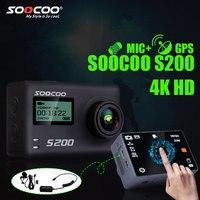 Soocoo на S200 действие Камера Ultra HD 4 К ntk96660 + imx078 с Wi Fi Gryo голосового управления внешний микрофон GPS 2.45 сенсорный ЖК экран