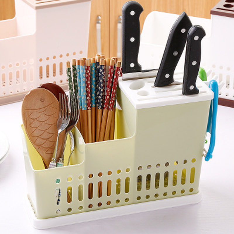 Knife Bag Home Hollow Knife Shelves 3 Colors Multi-Function Kitchen Storage Rack Sundries Tools Towels Storage Holders Organizer