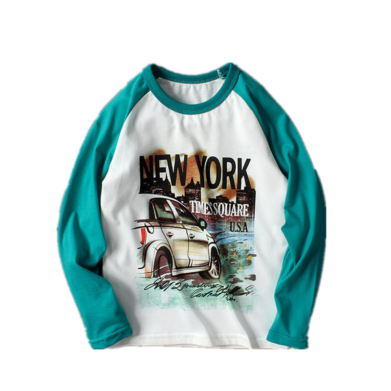 VIDMID New Children Boy Clothes long sleeve Tees Boys T-shirt Casual Cotton Letters Patchwork Striped Kids t-shirts tees 4102 23 2