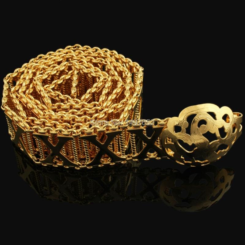 Luxe Europe et amérique Style métal cuivre bijoux/couleur or lettre X collier arabe/africain femmes/hommes bijoux de mariage