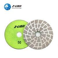 Z LION 4 1 Piece Diamond Polish Pad Vacuum Brazing Polishing Wheel Granite Concrete Marble Grinding