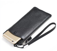 Strap Hand Card Wallet Genuine Cow Leather Mobile Phone Case Pouchs For Samsung Galaxy S8 S8