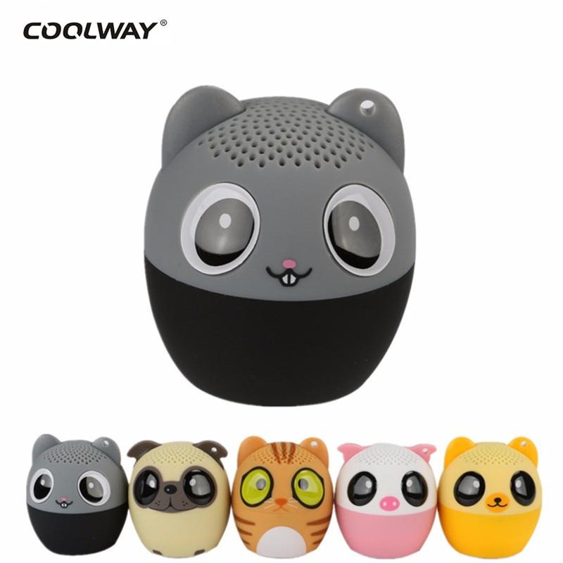 Portable Mini Animal Bluetooth Speaker Sound Stereo Subwoofer Soundbar caixa de som Stereo Loundspeaker for Phone PC altavoz