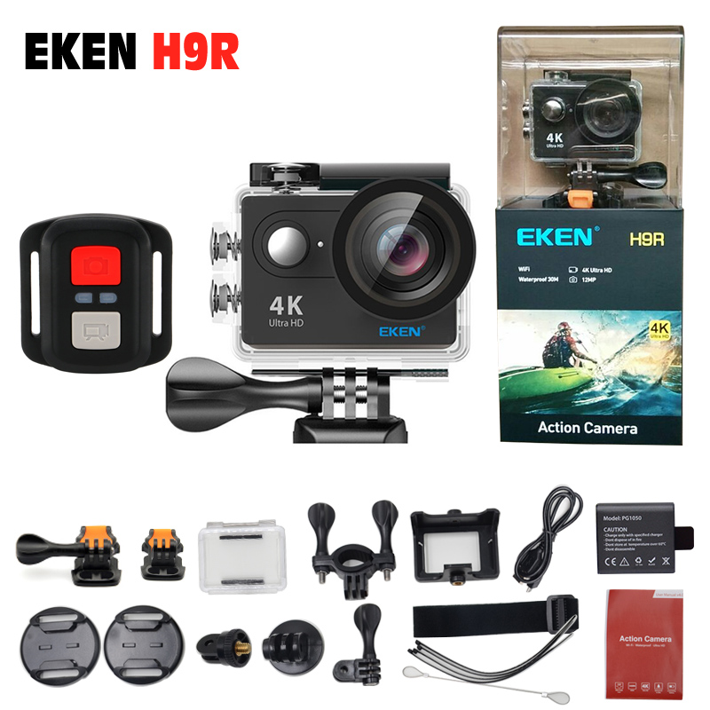 EKEN H9 / H9R Action camera deportiva Ultra HD 4K WiFi 1080P 170D for Bicycle Diving waterproof Mini Cam Sport camera 2017 arrival original eken action camera h9 h9r 4k sport camera with remote hd wifi 1080p 30fps go waterproof pro actoin cam