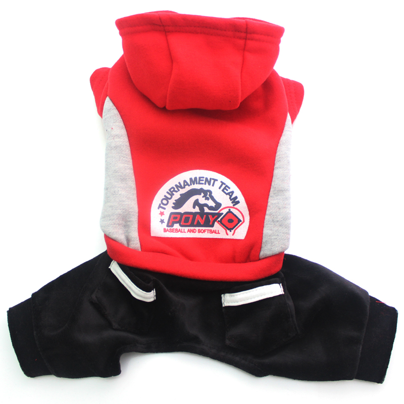 Pet Dog coat Hoody Sweater pet puppy Jacket Casual clothes Pony design 4 sizes availbale