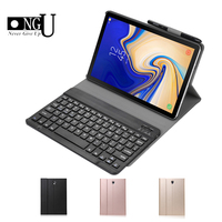 Slim Leather Case For Samsung Galaxy Tab S4 10.5 T830 T835 SM T830 SM T835 Business Detachable Bluetooth Keyboard Cover Stand