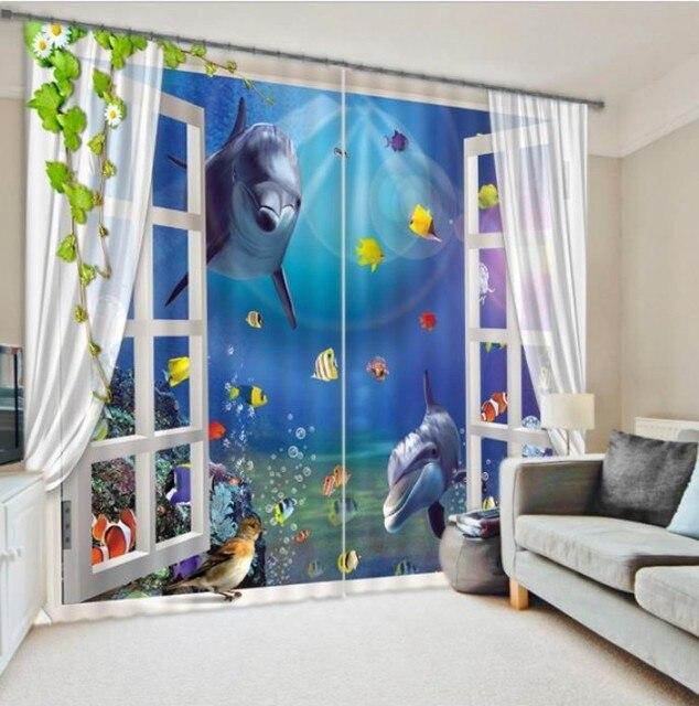 Palm Tree Window Curtain Curtains For Living Room Bedroom Blackout D Rideaux Pour Le Salon