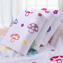 110×110 Baby Large Summer Blanket Bamboo Cotton Baby Muslins Cover Kids Jacquard Mushroom Swaddle Infant Soft Muslin Bedding