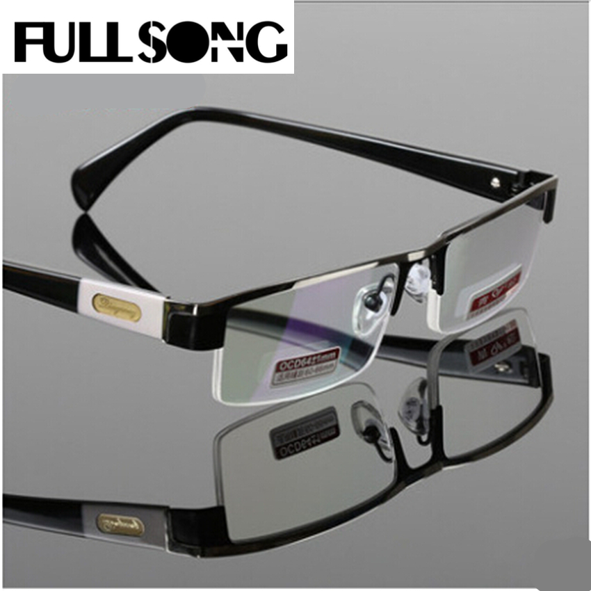 FULLSONG Titanium Alloy Antirrflective coated with box Senator oculos gafas de lectura business reading glasses