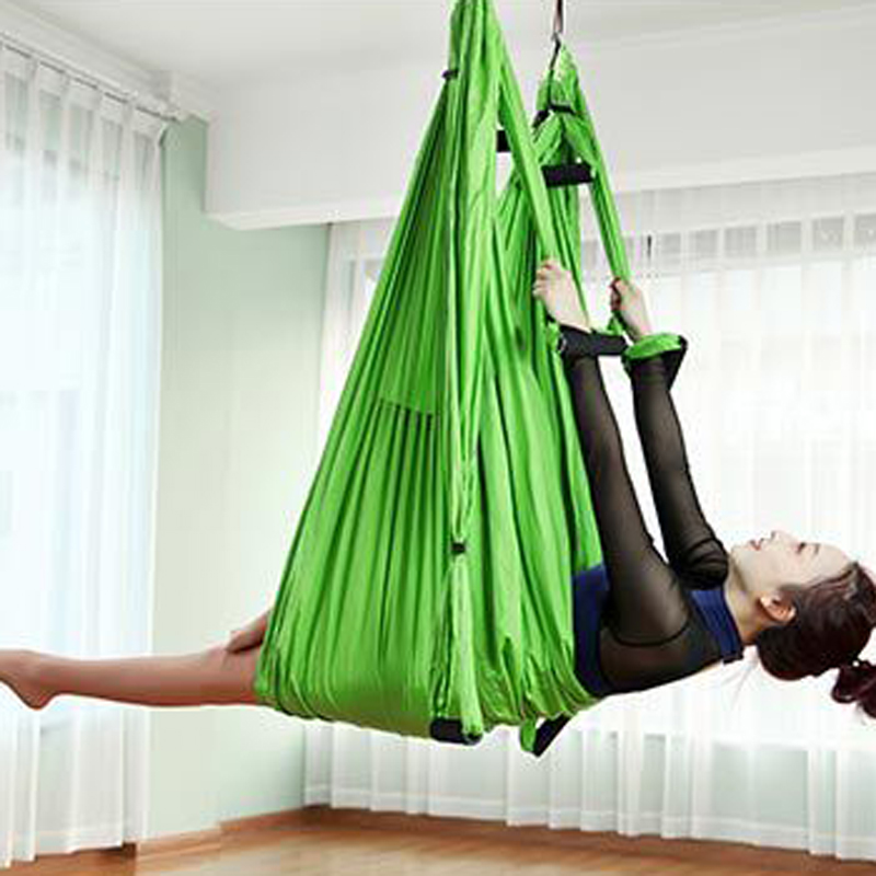 Stocked 6 Handles Fitness Nylon Taffeta Yoga Hammock Inversion Belts Anti-Gravity Aerial ...