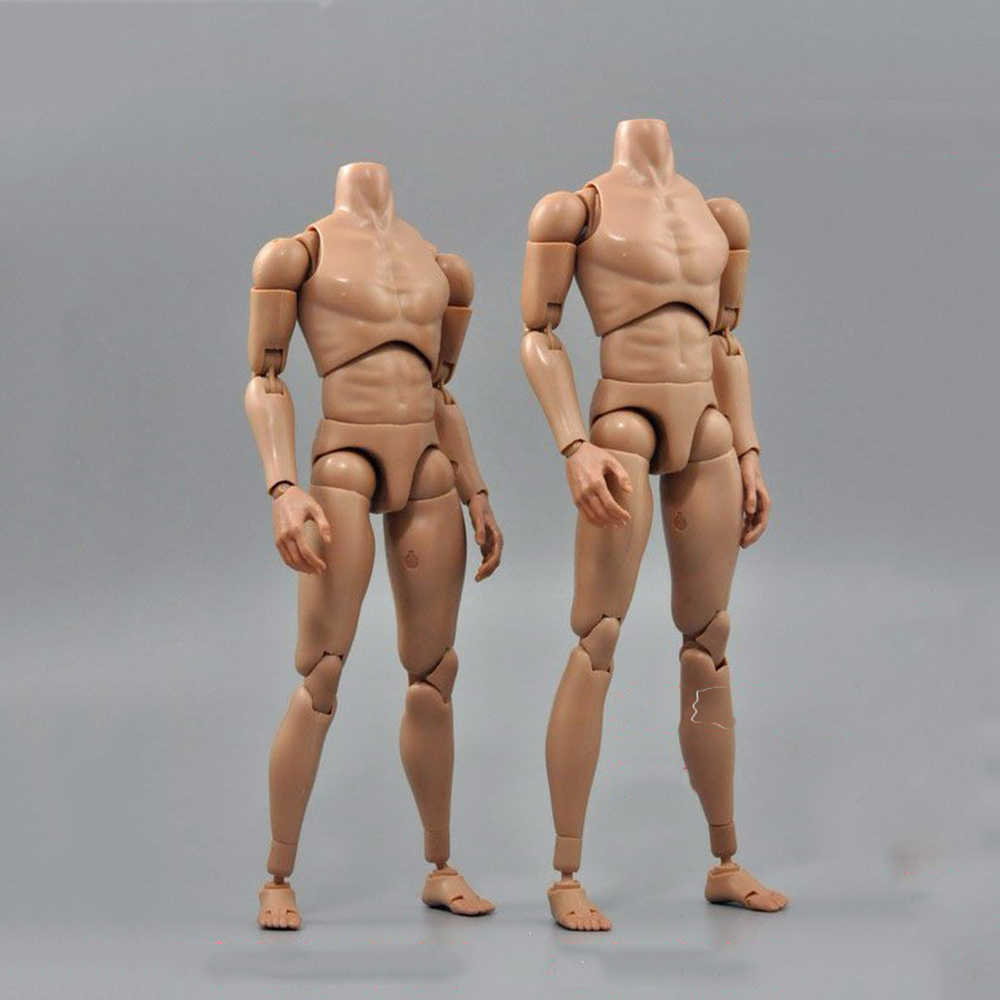 "1/6 Scale B006/B007 Military Male Narrow Shoulders Nude Action Figure Body Skin Color For 12"" Action Figure Toys Accessories"