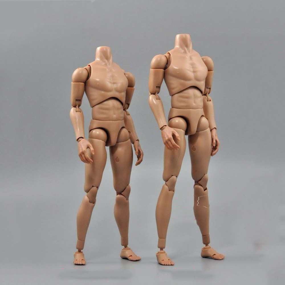 1/6 Scale B006/B007 Military Male Narrow Shoulders Nude Action Figure Body Skin Color For 12