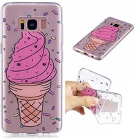 Big ice cream TPU Soft Gasbag Back Case Cover For Samsung Galaxy S8 G950 5.8inch Case