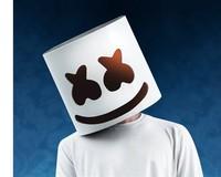 Cosplay DJ Marshmello White Mask Helmet Halloween Costume Accessory Full Head Latex Gift Party Light Drop Ship
