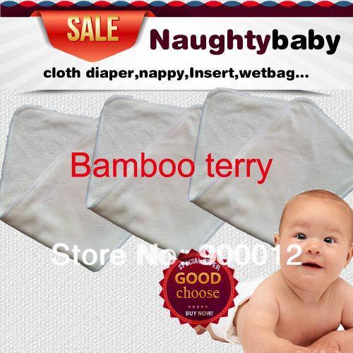 Kostenloser Versand Naturfaser Bambus Terry Absorption Bambus Terry (4 schichten) 36 * 14 cm Stoffwindeln Pads Einsätze windel 150 stücke