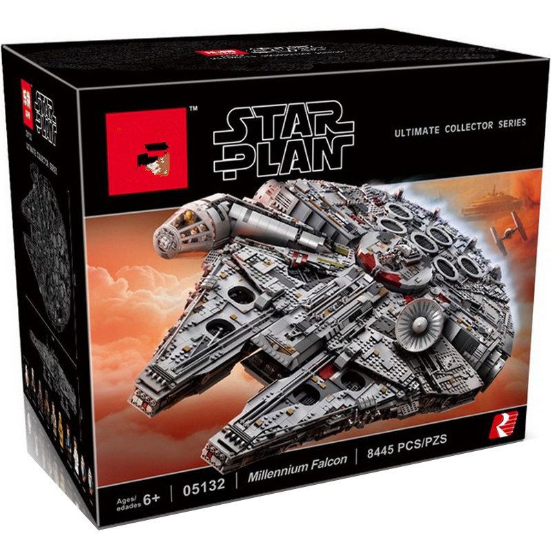 In Stock 05132 New Millennium Falcon 8445pcs Compatible 75192 Star wars Series Ultimate Collectors Model Building Bricks Toys