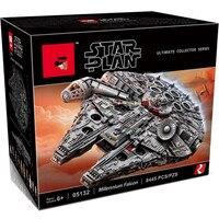 In Stock 05132 New Millennium Falcon 8445pcs Compatible 75192 Star wars Series Ultimate Collectors Model Building Bricks Toys
