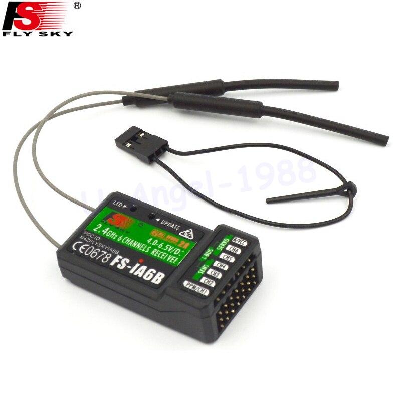 1 pz Originale 2.4G 6CH Ricevitore PPM Uscita con iBus FS-iA6B Flysky Trasmettitore Flysky i4 i6 i10 Porta Compatibile goccia freeship