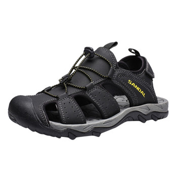 SAGACE męskie buty na co dzień z dziurami na lato buty na plażę wygodne sandały odzież na zewnątrz sportowe buty wysokiej jakości nowy product 2020 tanie i dobre opinie Podstawowe NONE LEISURE RUBBER Hook loop Niska (1 cm-3 cm) Pasuje prawda na wymiar weź swój normalny rozmiar sandals