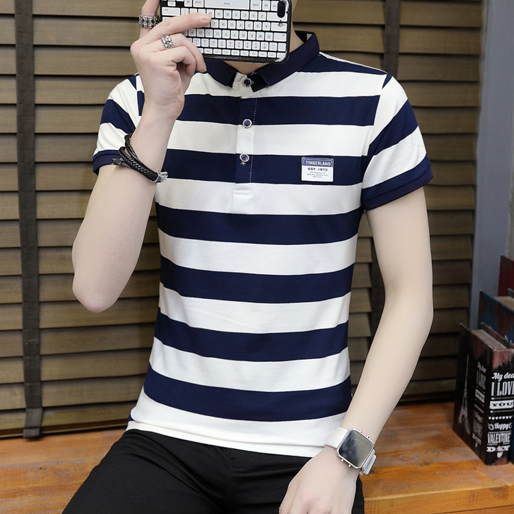New summer high quality striped short sleeve polo shirt men brand clothing fashion Korean casual slim fit male camisa 9018Z 7