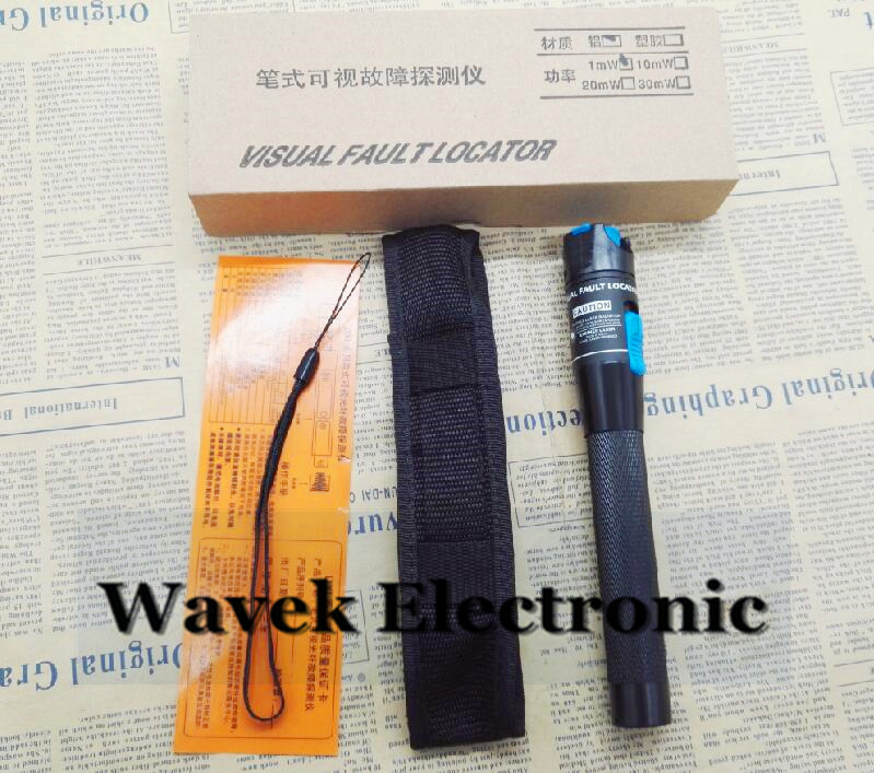 Free shipping 5km 1mW Visual Fault Locator Pen Type Fiber Optic Red Laser Tester Detector Fiber Optical Cable Tester Aluminium