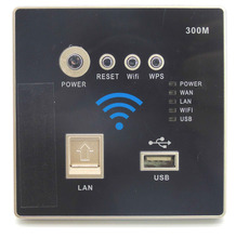 Wall Embedded 300Mbps Socket 3G Wifi Wireless AP Router USB Charger AC 110V~240V