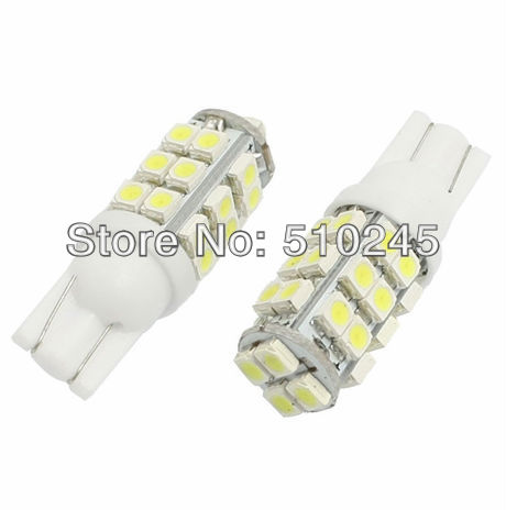 30x Free shipping wholesale T10 Car High Power 168 194 W5W White 28 SMD LED Wedge Light Bulb Lamp 12V