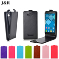 Pop C7 Hot Sale preto PU Leather Case para Alcatel One Touch C7 POP 7040 7041 7040D 7040A OT 7041D tampa Flip Vertical casos