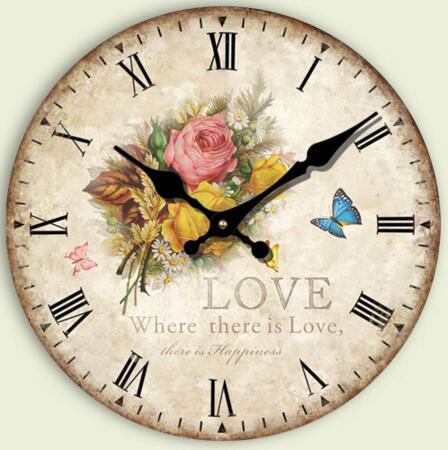 flower home decor wall clock fashion silent bedroom decoration wall clock modern large decorative wall clock horloge murale