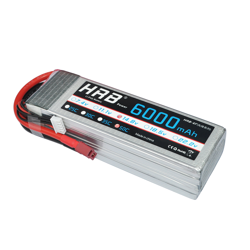 HRB Lipo Battery 4S 14 8V 6000mAh 50C Max 100C for RC Drone FPV UAV Helicopter