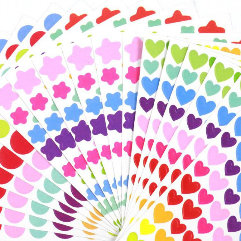 5pcs/lot Cute Colorful Stickers DIY Decals Sticker For Notebook Albums Scrapbook Decorative Laptop Classic Toys For Kids