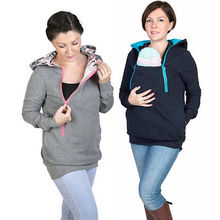 colors Fashion Style 3 in One Maternity Pregnancy Pregnant Woman Hoodies Carry Baby Sweatshirt Mom Zipper Coat