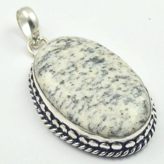 K2Stone Pendant Silver Overlay over Copper USA Size 61mm P4660 in Pendants from Jewelry Accessories