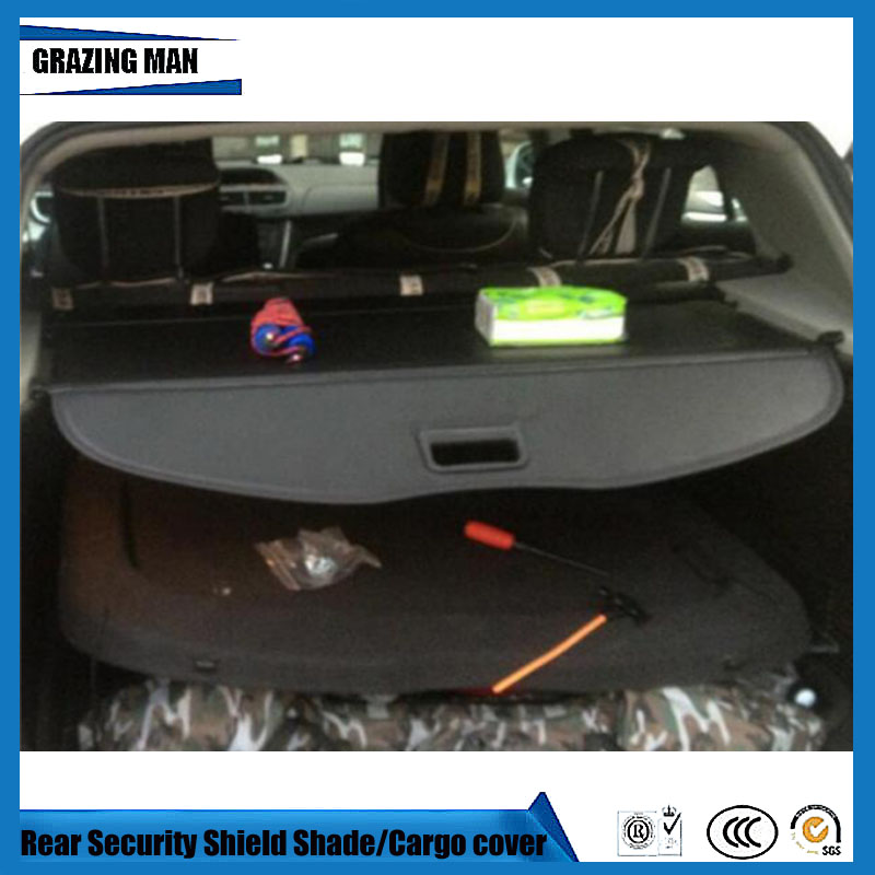 Car Rear Trunk Security Shield Shade Black Beige Color Cargo Cover For TRAX