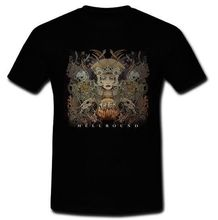 LEQEMAO Fit for an Autopsy Hellbound American deathcore band T-Shirt Tee S M L XL 2XL Printed T Shirt Short Sleeve Men(China)