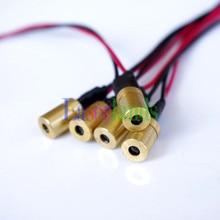 5 unids 1 mW 650nm Diodo Láser Rojo Enfocable 3VDC Dot Módulos