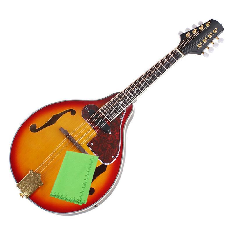 Vente CHAUDE UN Type Hêtre Boîte Électrique Acoustique-Électrique Mandoline Piano 8 Chaîne Guitare - 4