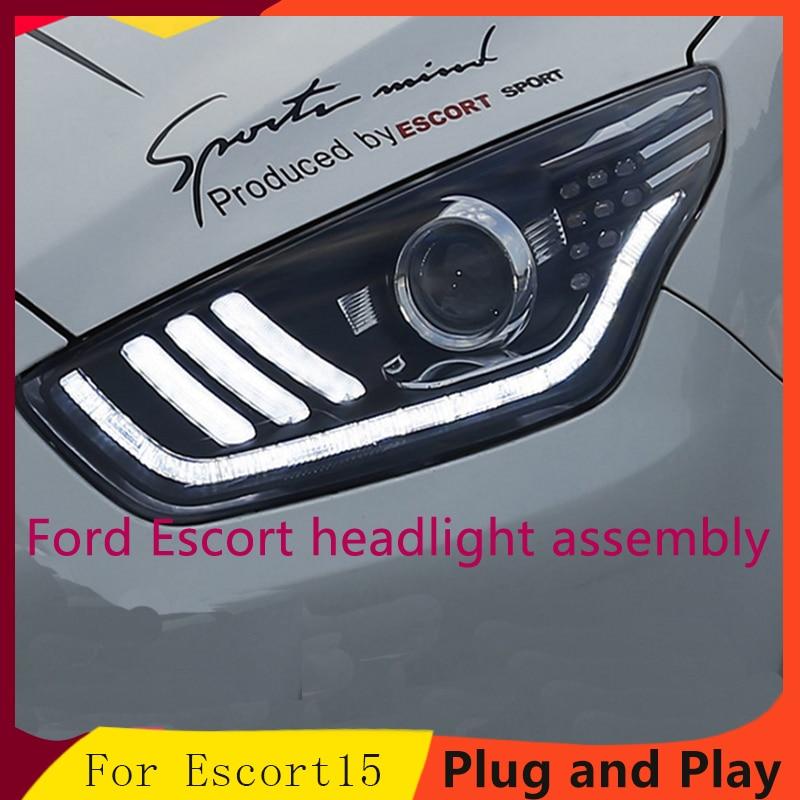 Car Styling Headlights for Ford ESCORT LED Headlight for ESCORT Head Lamp LED Daytime Running Light LED DRL Bi-Xenon HID