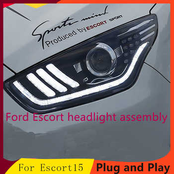 Car Styling Headlights for Ford ESCORT LED Headlight for ESCORT Head Lamp LED Daytime Running Light LED DRL Bi-Xenon HID - DISCOUNT ITEM  20% OFF All Category