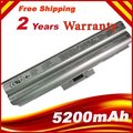 No CD 5200 mAh batería para Sony VGP-BPL13 VGP-BPS13 BPS13 BPL13 VGP-BPS13 / B VGP-BPS13 / Q VGP-BPS13A / Q VGP-BPS13B / Q de plata