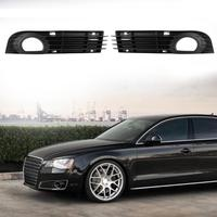 1Pcs Front Bumper Grille Fog Light Cover For Audi A8 QUATTRO S8 4E0807682AD Car Styling Exterior