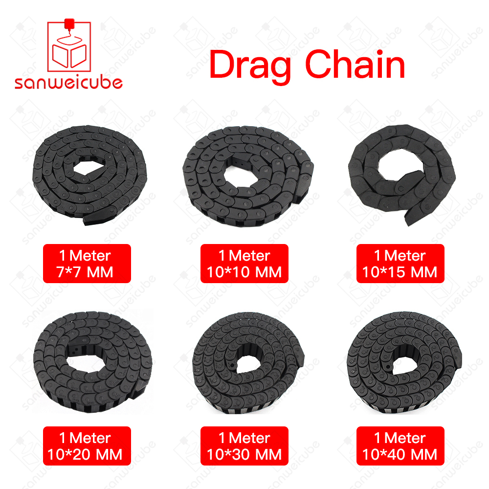 1Meter Plastic Transmission Cable Drag Chain Wire Carrier with end connectors for CNC Router Machine Tool Drag Chain for Machin 15 30mm l1000mm cable drag chain wire carrier with end connectors for workbee cnc router machine tools