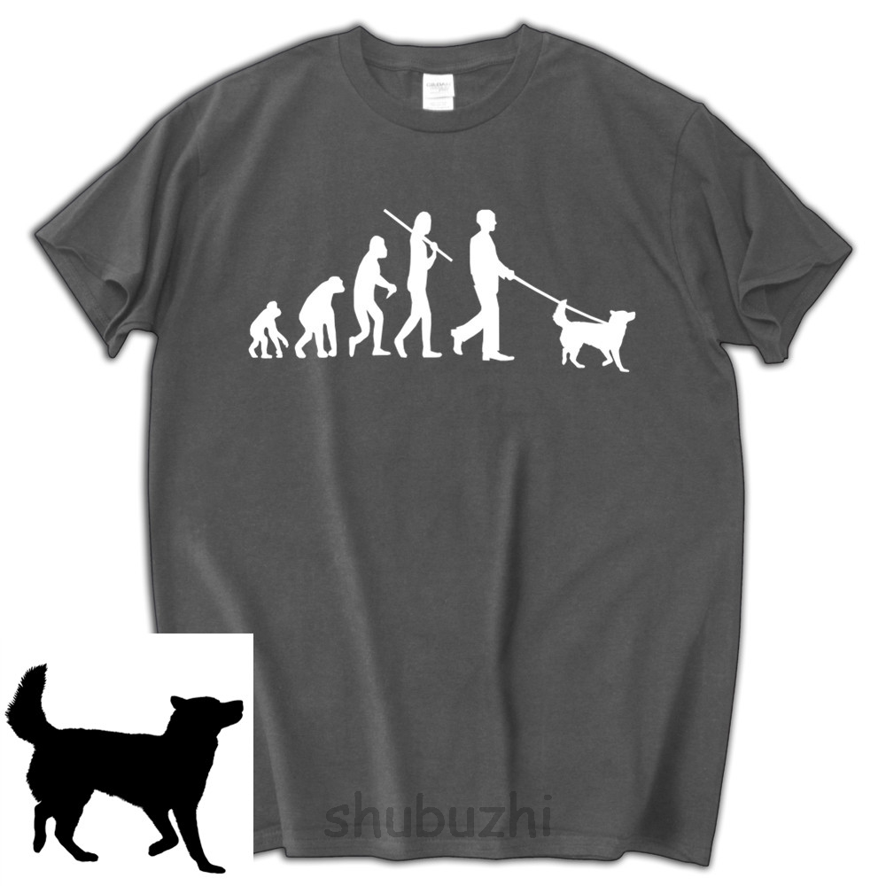 61a1337c5 male pattern tee shirt Evolution Alaskan sled dogs T shirt man funny  birthday present xmas gift tops shubuzhi luxury brand tees-in T-Shirts from  Men's ...